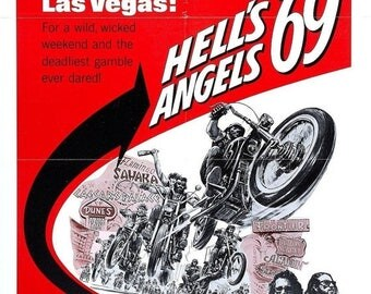 Back to School Sale: HELLS ANGELS '69 Movie Poster Biker Exploitation