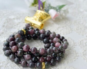 muslim purple 99 holly gemstone beads doa turkish tulip islamic sibha misbaha eid dikr mabrook, mabroor gift, Tasbeeh, hicab pray Ablution