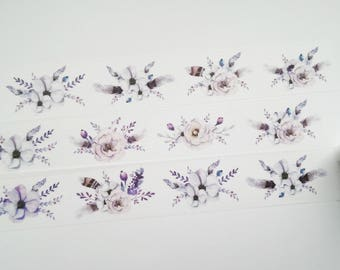 Design Washi tape snow flowers white floral
