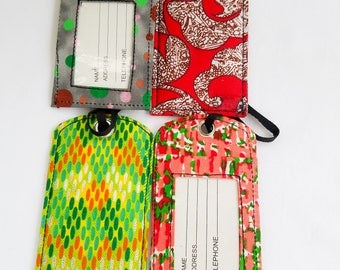 African print luggage tags /card holder