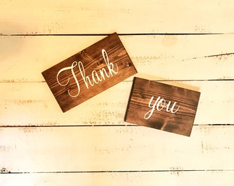 Thank you signs, photo prop thank you signs, wedding thank you sign