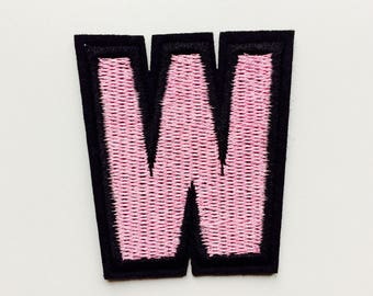 W | Whatever | What Ever | Varsity | Patch | Cute | Hipster | Trendy | Emo | DIY | Fashion | Retro