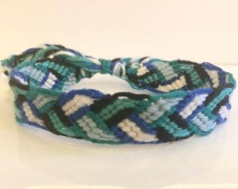 Flat Braid Friendship Bracelet or Anklet with Adjustable Fastening. Discount if 2 purchased.
