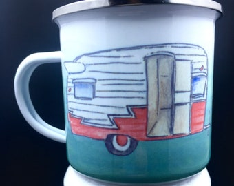 Camp Cup Enamel Camp Mug Coffee Mug Camper Coffee Mug Coffee Cup Ceramic Coffee Mug 10 oz Mug Camping Life