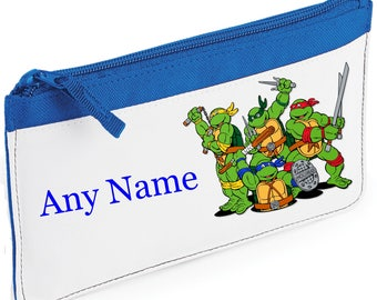 Personalised Ninja Turtles Style Pencil Case *Pink/Blue/Red/Black*