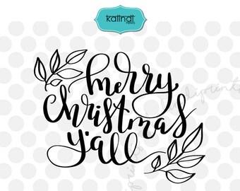 Merry Christmas Y'all svg, Southern Christmas, Christmas svg, Christmas quote svg, merry Christmas svg, Christmas svg files   cr83
