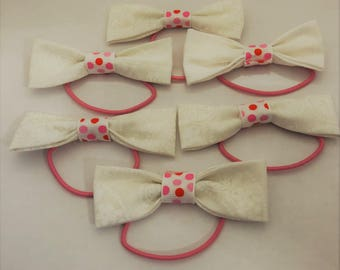 White and Pink Bows