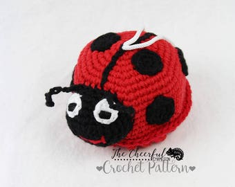 Crochet Pattern - Lady Bug Pattern - Bath Toy Pattern - Lady Bug toy Pattern - Crochet Bath Toy - Amigurumi Pattern - Bath Scrubby - Instant