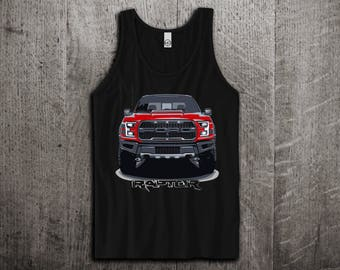 Ford Raptor Tank Top, Ford t shirts, Ford F 150 shirts, cars tanks, Muscle car t shirts, Ford Raptor Unisex Tank top by Motomotiveink