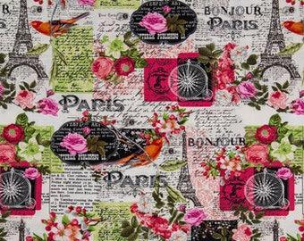 Paris Themed Fabric