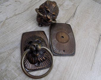 Vintage door knob with lions Old door knobs Vintage door knobs door handles Soviet door handles Metal door handle Rustic handles Retro knobs