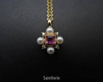 0.2 Carat Ruby Necklace