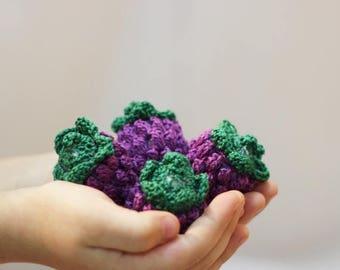 ON SALE 10% OFF Crochet Blueberries (2pcs +) Amigurumi berries Crochet Play Food Play Kitchen food Sensory toy Pretend Play food Toys for ki