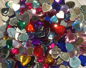 245 cabochons - Gem destash - Hair bow supply - Sewing supply - Craft supply - Craft sale - Supply sale - Flatback gems - Rhinestones