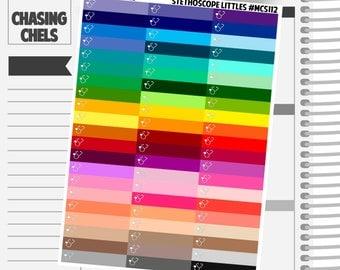 Stethoscope Littles Headers #MCS112 Premium Matte Planner Stickers