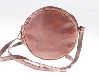 Dark Brown 90's Leather Shoulder Bag