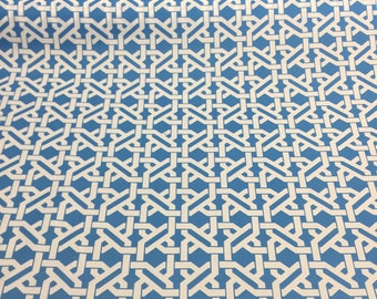Mill Creek Haldor Blue and white indoor outdoor multi-purpose fabric by the yard