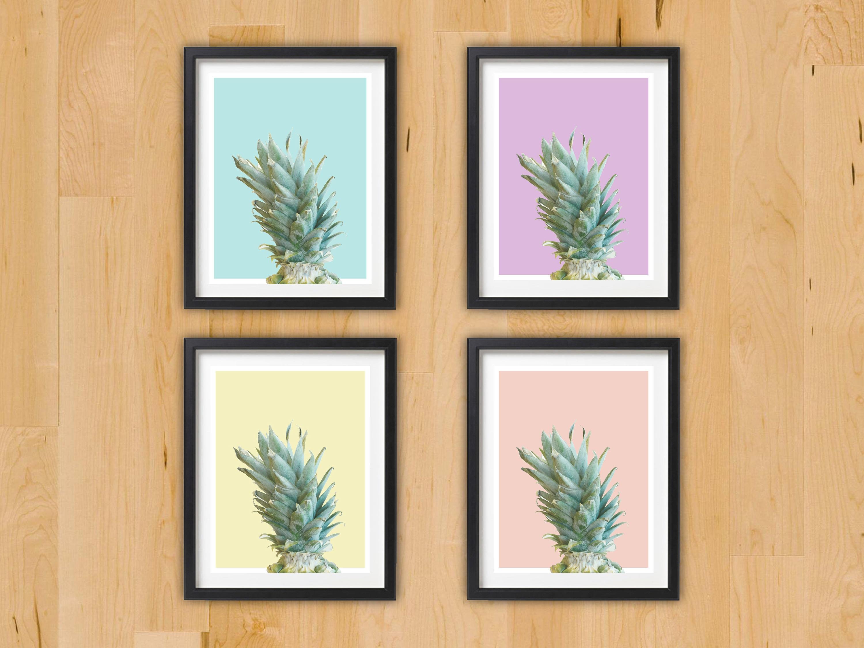 Pineapple Modern Pop Art Decor | Printable Cute Fun Summer Fruit Art ...