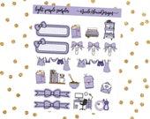 Light Purple Sampler, Bow Planner Stickers