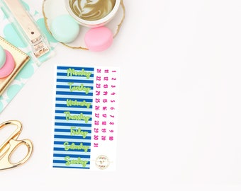 Back to School Date Covers add on, planner stickers