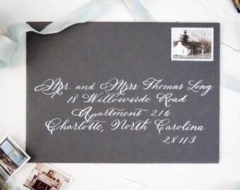 Custom Envelope Calligraphy-Wedding Envelope Calligraphy Addressing-Handwritten Custom Calligraphy Envelope {Spencerian Style}