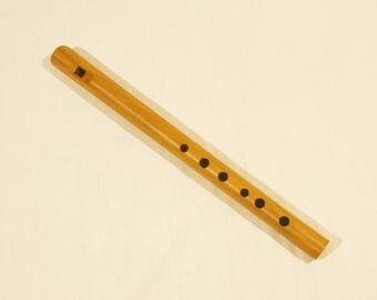 """Wooden tin whistle, easy to use 6 hole flute in high """"F"""" - professional"""