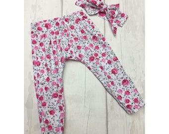 Harem Pants Girls Harem Pants Baby Pants Baby Harem Pants Girl Harem Pants Toddler Harem Pants Baby Girl Pants Kids Harem Pants Harem