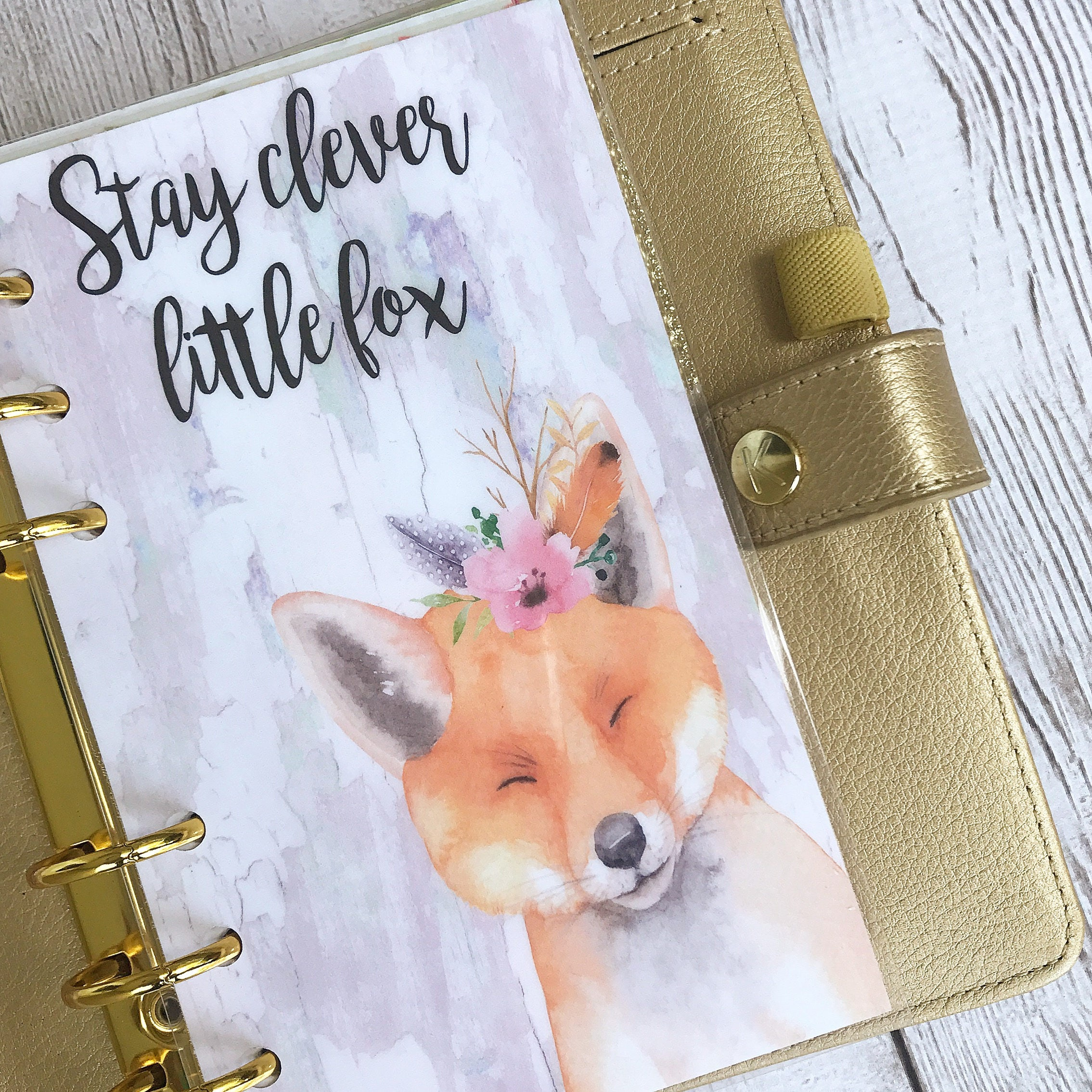 Clever Fox: Planner Dashboard: Clever Fox 10 Mil Laminated And