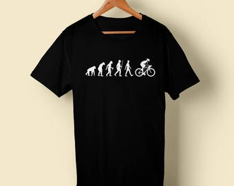 Evolution of Cycling - Many sizes, many colours Tshirt