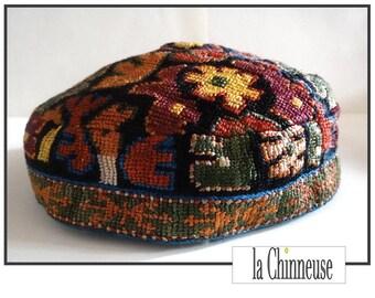 ANTIQUE Uzbek HEADWEAR / Vintage Uzbek skullcap.