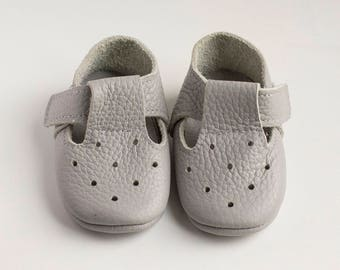 T-Strap White Sandals, Baby Sandals, leather sandales, baby leather sandales