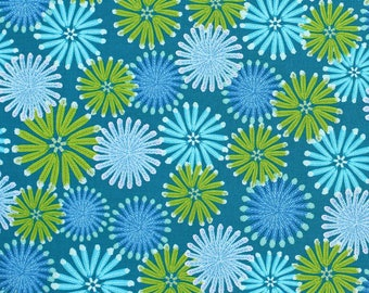 Zandra Rhodes - Feathered - Kaleidoscope - Teal - Free Spirit - Per Yard Price