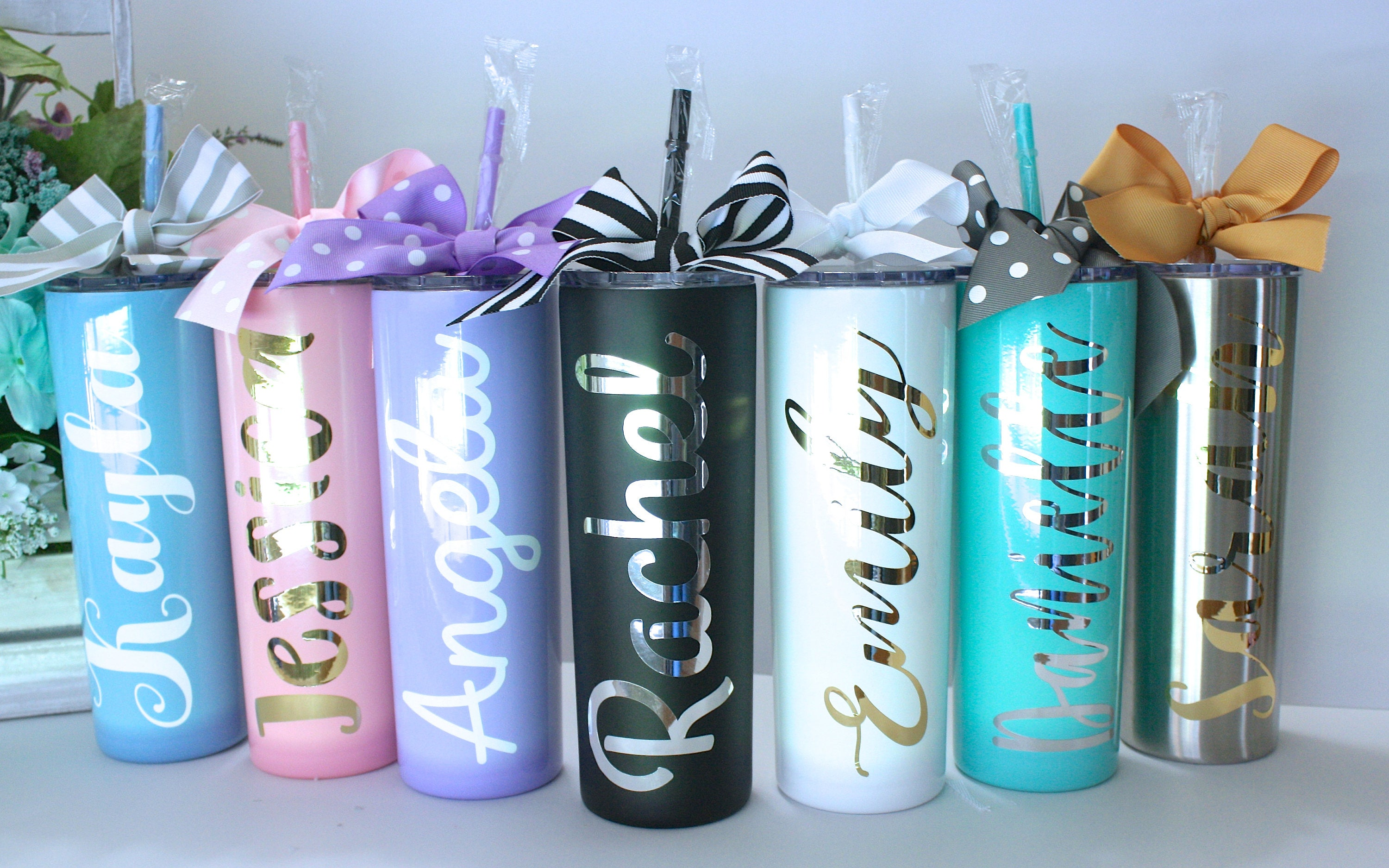 Personalized Stainless Steel Skinny Tumbler 20 Oz Stainless