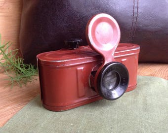 Rare Vintage Stereoscope in Form of Old Photo Camera, Filmstrip Viewer, Photographic Film Viewer, Portable Viewer, Stereo Box, Photo Prop