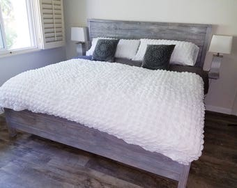 custom bed frame hand built custom bedframe reclaimed wood rustic bedframe rustic - Reclaimed Wood Bed Frame