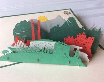 IRELAND Pop Up Card