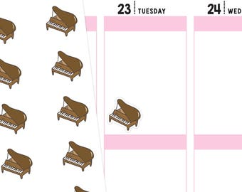 Piano Planner Stickers, Music Stickers, Musician Stickers