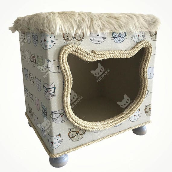 Cat Bed Cat Cottage Cat House Cat Cave Footstool Furniture