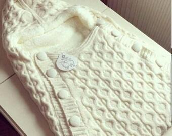 newborn wool blanket, baby sleeping bag, swaddling blanket, stroller blanket, newborn gift, baby gift, baby boy / baby girl outfit