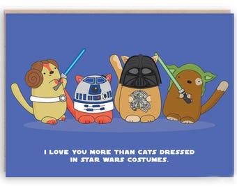 Star Wars husband, boyfriend Star Wars card, geek valentine, geeky valentine card, Star Wars birthday card, Star Wars Valentine card