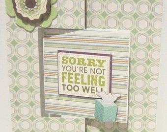 Get Well Card-Flip Card-Fell Better-Homemade Cards-HandmCards-Friendship Card