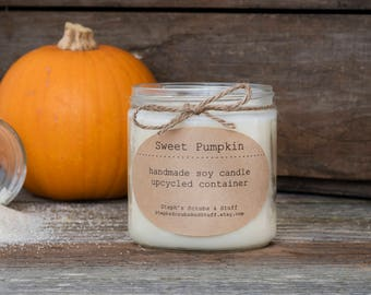 Pumpkin Candle, Pumpkin Spice, Pumpkin Candle Soy, Soy Candle, Soy Candle Tin, Fall Decor, Fall Candle, Autumn Candle, Holiday Candle