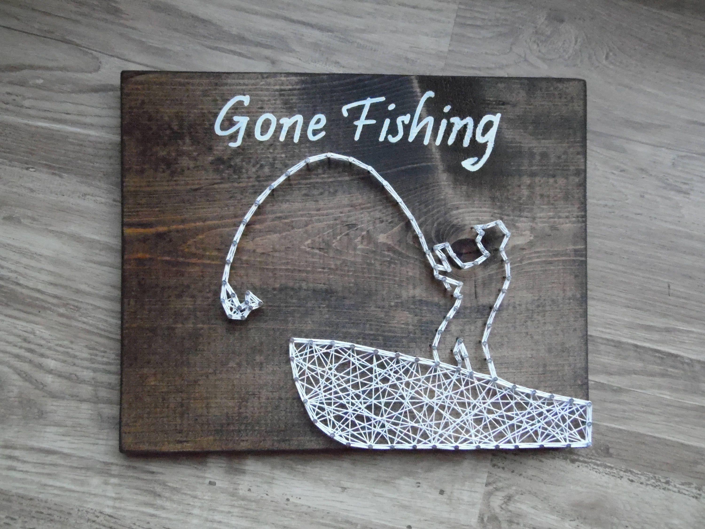 Fishing string art gone fishing string art string art for Fish string art