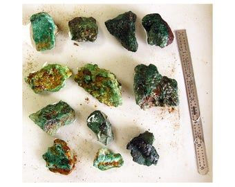 Rare Lot 460g Bisbee Copper Queen Mine Region Malachite Rough For Lapidary Jewelry Collecting Cabs - More Bisbee Minerals Here!