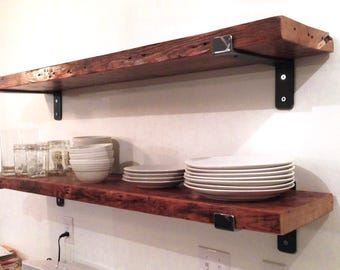 SET of 2! Free shipping!12x32 Rustic shelf farmhouse wood shelf, industrial shelf, distressed rustic shelf, country shelves, farmhouse decor