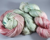 Hand Dyed Sock Yarn, 4ply, Plus Size Skein 150g/600m, BFL and Silk