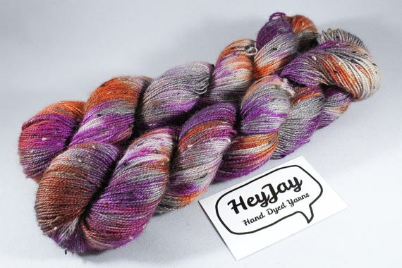 Donegal Tweed Sock Yarn - Bluefaced Leicester - September Sunset