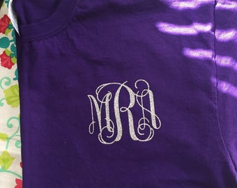Front Monogram Short Sleeve T-Shirt