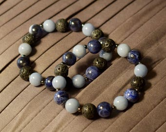 NEW! Tranquility - Beautiful Natural Gemstone Aromatherapy Bracelet, Includes Free Shipping!