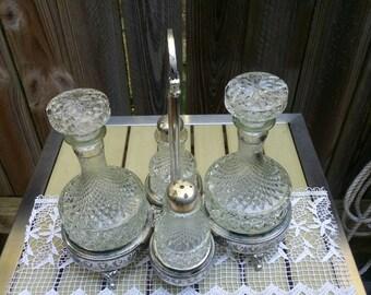 Vintage Silver Plated Cruet Set